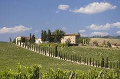 Farmhouse in Tuscany Royalty Free Stock Images