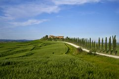 Farmhouse in tuscany. A nice view of landscape in tuscany Royalty Free Stock Images