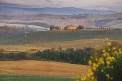 Farmhouse in Tuscany, Italy Stock Images
