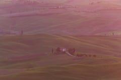 Farmhouse tuscany sunrise 4 Royalty Free Stock Images