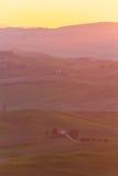 Farmhouse tuscany sunrise 5 Stock Image
