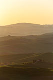 Farmhouse tuscany sunrise 7 Stock Photography