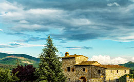 Farmhouse in tuscany Stock Photography