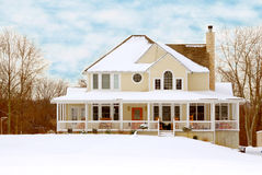 Farmhouse in Winter Royalty Free Stock Photos