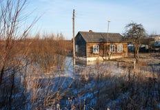 Farmhouse in winter Stock Photos