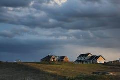Farmhouses and farmland