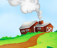 Farmhouses on the hill Stock Image