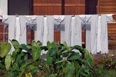 Farmhouses laundry Royalty Free Stock Photo