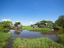 Farmhouses in Myanmar Stock Photography