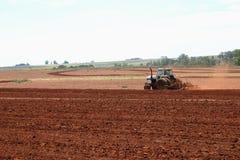 Farming. Farmer preparing for planting Royalty Free Stock Image