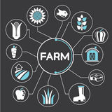 Farming and agriculture icons, infographic Royalty Free Stock Photography