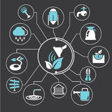 Farming and agriculture icons, infographic Royalty Free Stock Photos