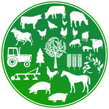 Farming agriculture sign Royalty Free Stock Photo