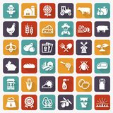 Farming and agriculture vector flat icons. royalty free illustration