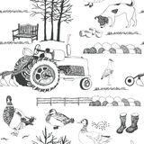 Farming background Royalty Free Stock Images