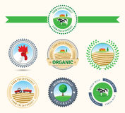Farming badges Stock Images