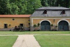 Farming building, castle Milotice, Moravia Stock Image
