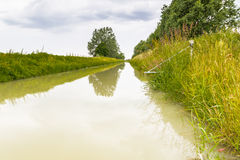 Farming channel  for the collection of the waters Stock Photography