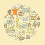 Farming Circle Concept Royalty Free Stock Image