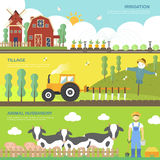 Farming concept banners set Stock Photography