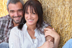 Farming couple Royalty Free Stock Photography