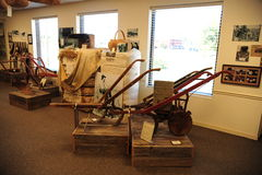 Farming exhibit at the West Tennessee Delta Heritage Center stock images