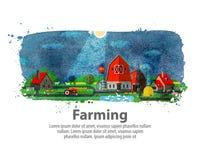 Farming or farm. vector illustration Royalty Free Stock Photo