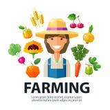 Farming, farmer, farm vector logo design template Stock Images