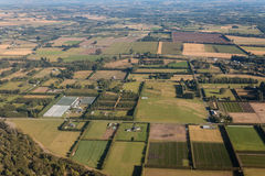 Farming fields in New Zealand. Aerial view of farming fields in New Zealand Royalty Free Stock Photos