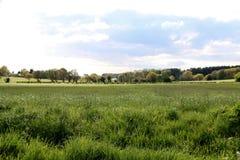 Farming Fields, Wrightington in Wigan. The view over the farming fields near Wrightington in Wigan Stock Photos
