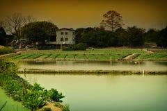 farming fishing village Royalty Free Stock Images