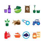 Farming, Food and Agriculture Icons Royalty Free Stock Photo