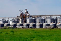 Farming Grain Silos. Used For Different Types Of Grain Like Cereals, Rice etc stock photography