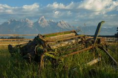 Farming in the Grand Tetons Stock Photo