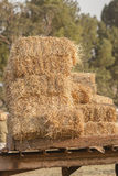 Farming Grass Bales Stock Photo