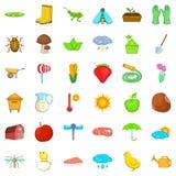 Farming harvest icons set, isometric style Stock Image