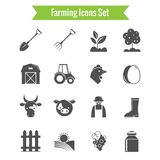 Farming Harvesting and Agriculture Icons Set Royalty Free Stock Photography