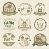 Farming harvesting and agriculture labels Stock Photo