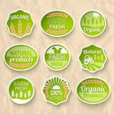 Farming harvesting and agriculture stickers Stock Photos