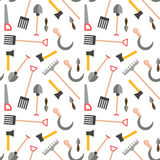 Farming harvesting and garden tools. Vector seamless pattern with farming harvesting and garden tools Royalty Free Stock Image