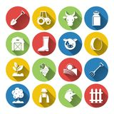 Farming Icon Set Royalty Free Stock Images