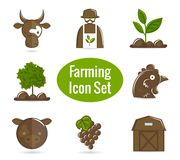 Farming icon set Stock Photo