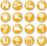 Farming icon set Stock Photography