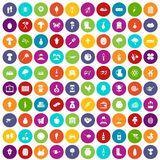 100 farming icons set color. 100 farming icons set in different colors circle isolated vector illustration Vector Illustration