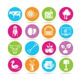 Farming icons Stock Photography