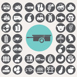 Farming icons set. Royalty Free Stock Image