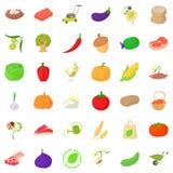 Farming icons set, isometric style Stock Image