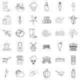 Farming icons set, outline style. Farming icons set. Outline style of 36 farming vector icons for web isolated on white background Stock Image