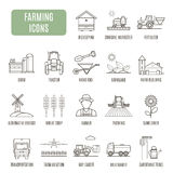 Farming icons. Set of vector pictogram Royalty Free Stock Image