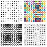 100 farming icons set vector variant. 100 farming icons set vector in 4 variant for any web design isolated on white Stock Photos
